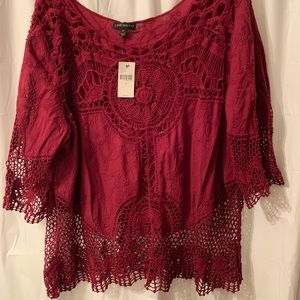 Lane Bryant new with tags burgundy top